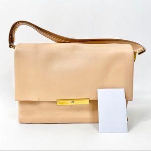 Celine blade shoulder bag rectangle leather suede